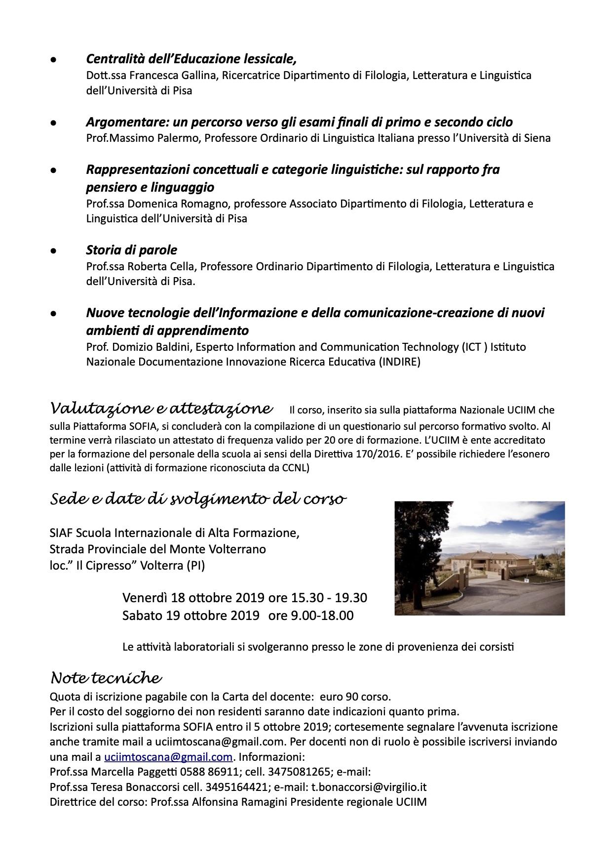 locandina uf linguistica volterra 2019-2