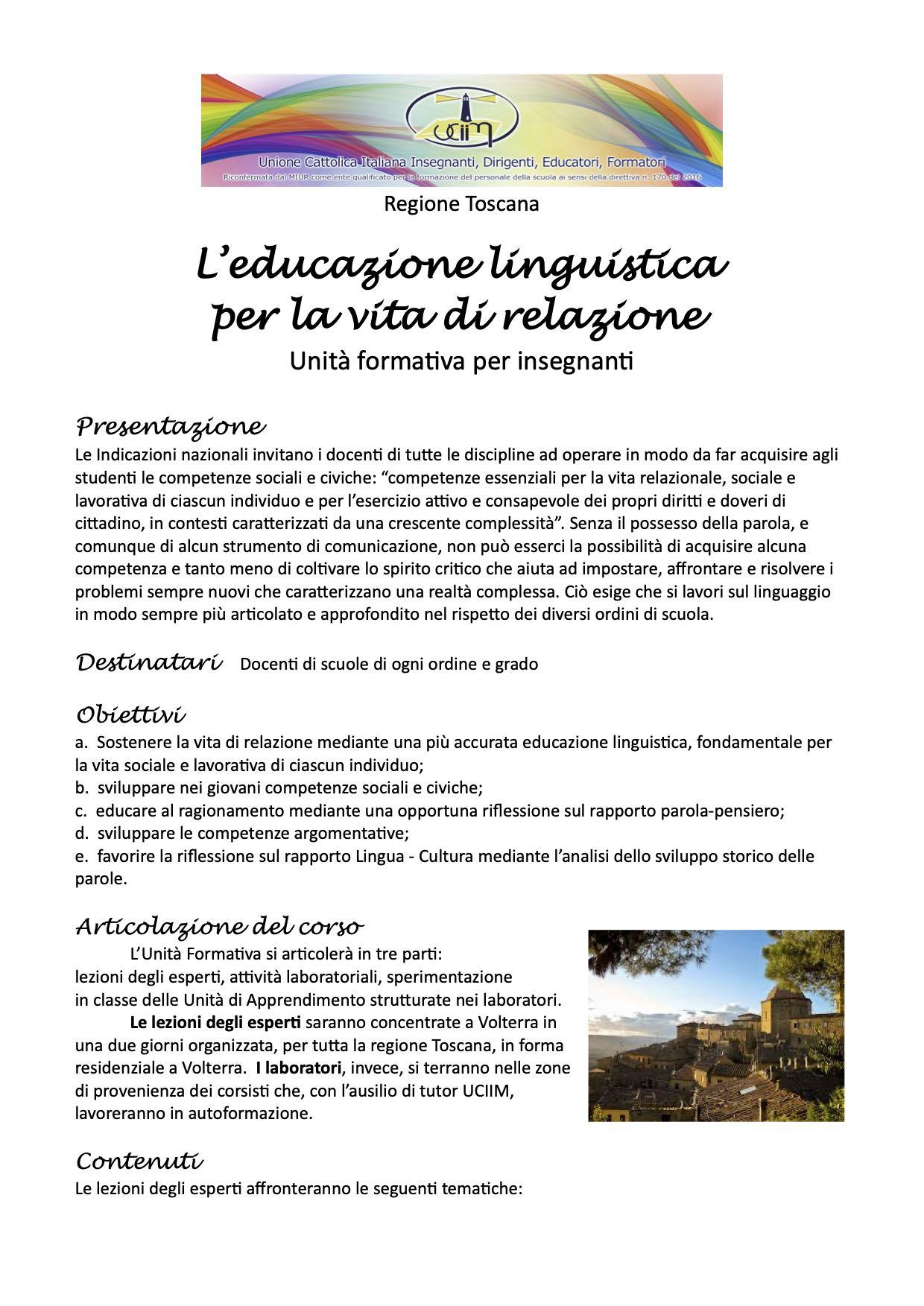 locandina uf linguistica volterra 2019